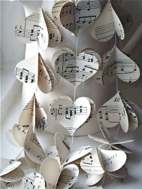 music notes hearts