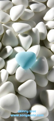 skinny love blue heart