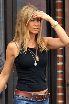 Jennifer Aniston seen on the set of The Bounty in Queens