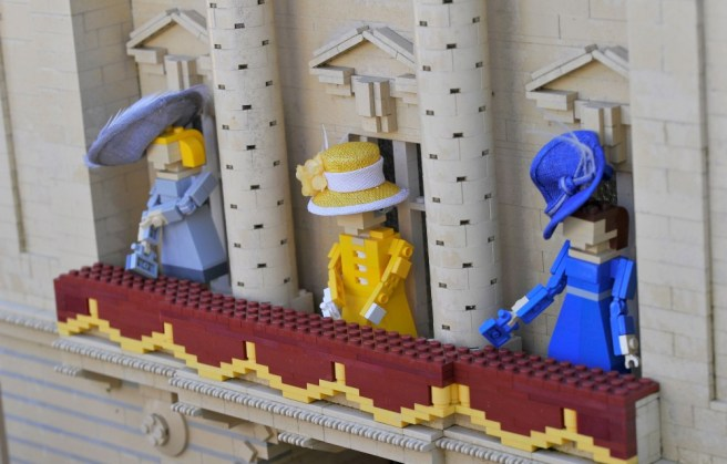 Rachel Trevor-Morgan Fits Designer Hats To LEGOLAND Figures Ahead Of Royal Ascot
